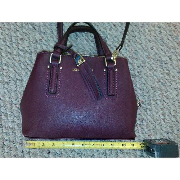 Liz Claiborne Handbags - Liz Claiborne burgundy mini satchel handbag NWOT